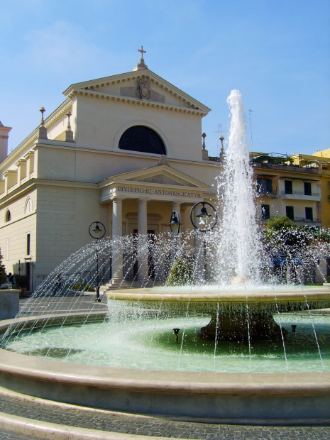 Anzio Church and Fountain